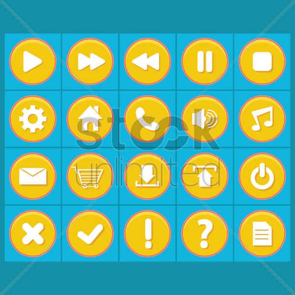 set of web icons vector graphic