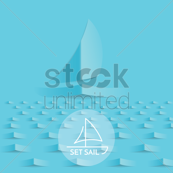 set sail vector graphic
