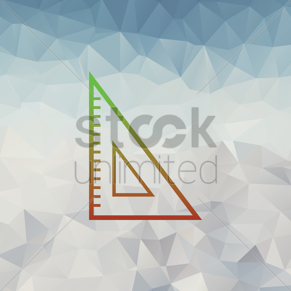 set square vector graphic