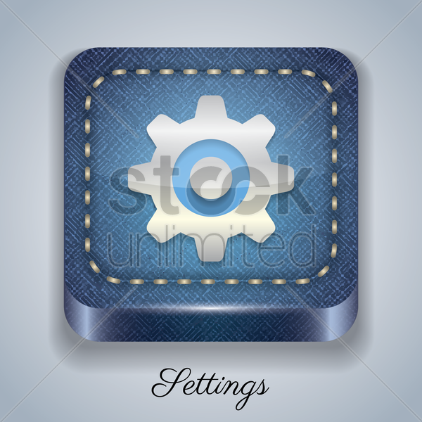 settings button vector graphic