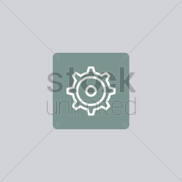 settings icon vector graphic