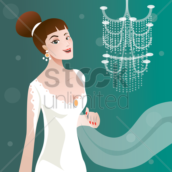 sexy woman dressed for a night out vector graphic