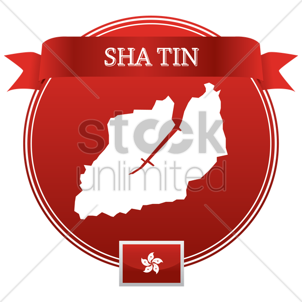 sha tin map vector graphic