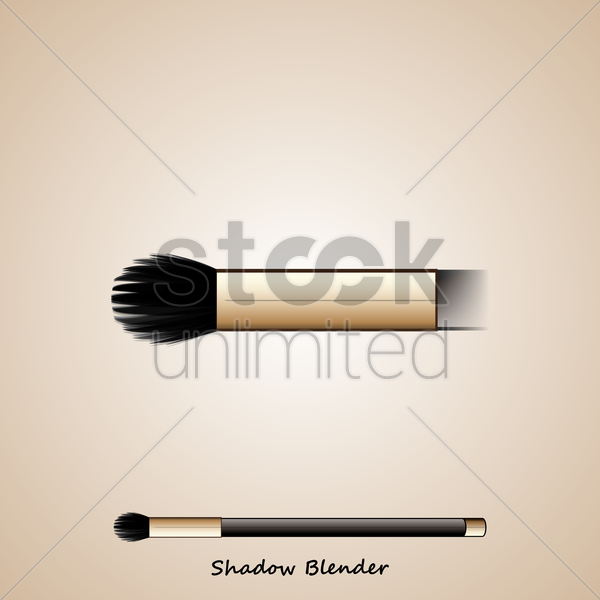 shadow blusher brush vector graphic