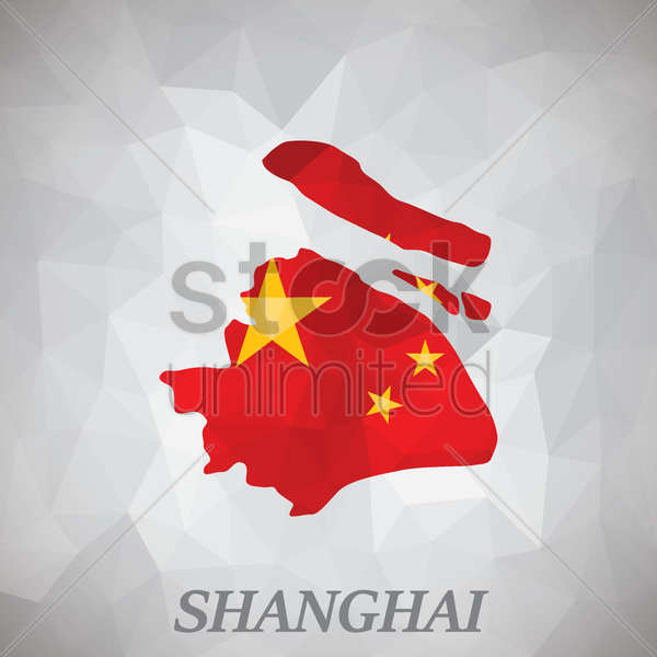 shanghai map vector graphic
