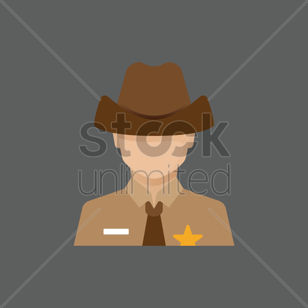 Free sheriff officer vector graphic
