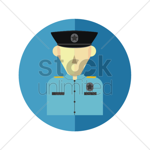 sheriff officer vector graphic