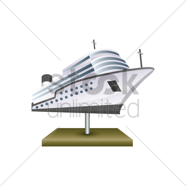 ship model vector graphic
