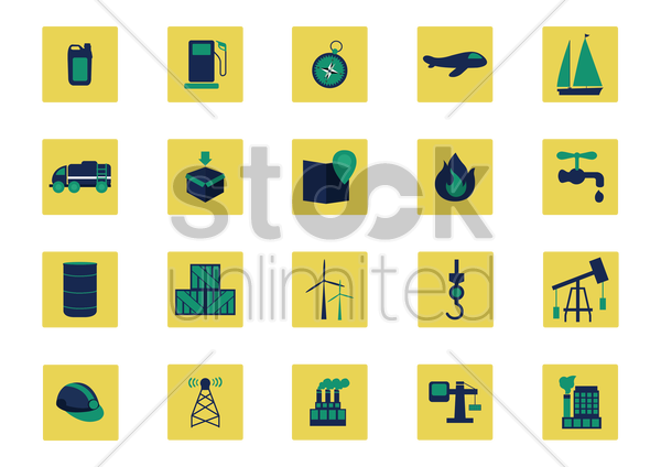 shipment industry icons vector graphic