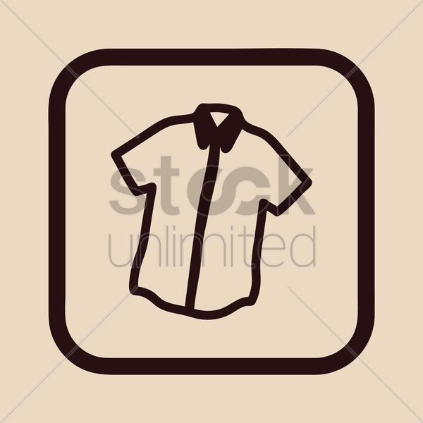 shirt with collar vector graphic