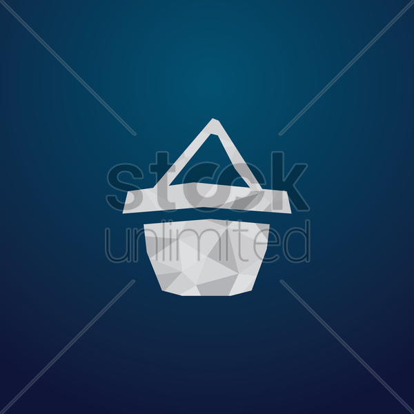 Free shopping basket icon vector graphic
