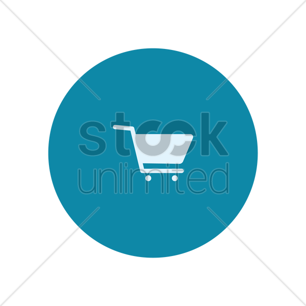 shopping cart icon vector graphic