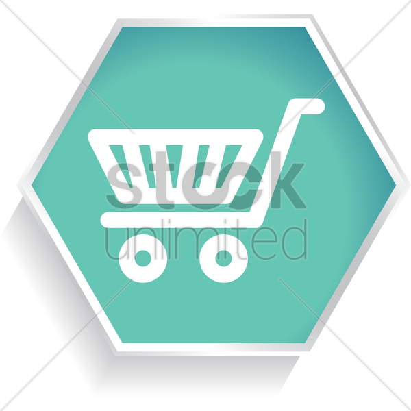 shopping cart vector graphic