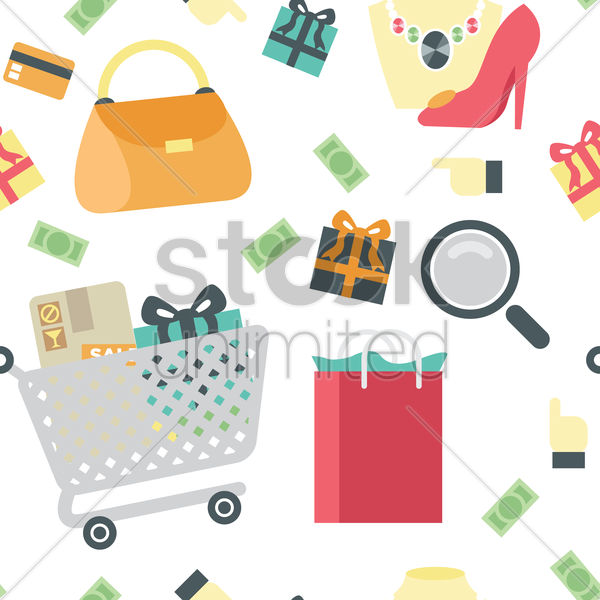 shopping theme background vector graphic