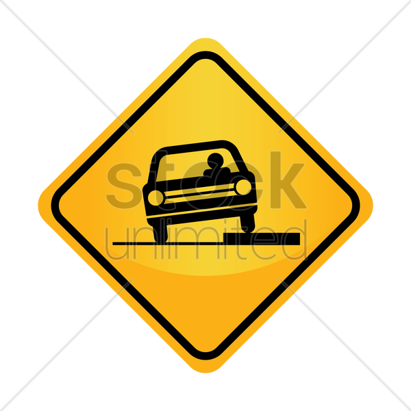Free shoulder drop-off sign vector graphic