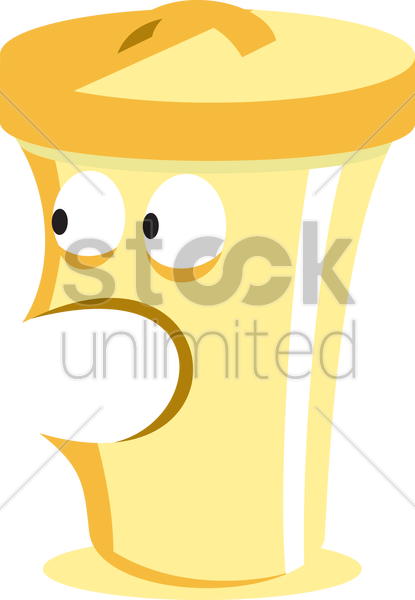 shouting recycle bin vector graphic