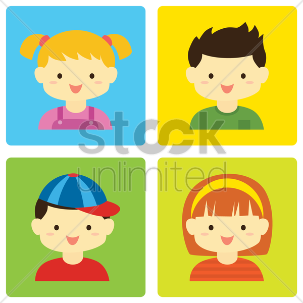 siblings vector graphic