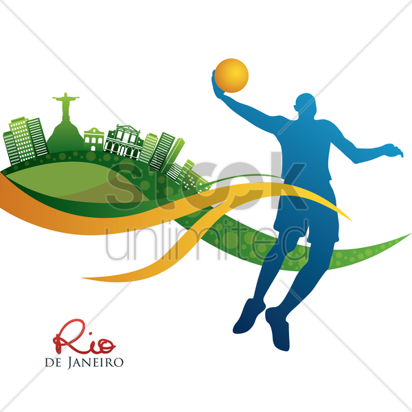 silhouette of basketball player vector graphic