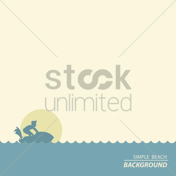simple beach background vector graphic