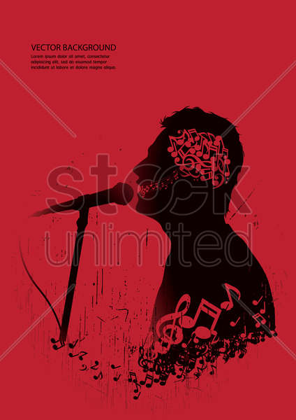 singer performing on stage vector graphic