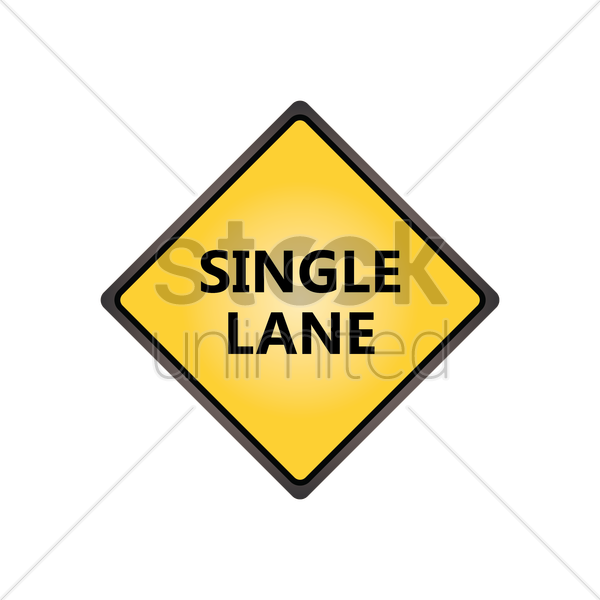 single lane sign vector graphic