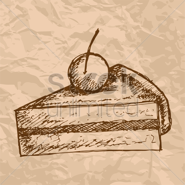 Free slice of cake vector graphic