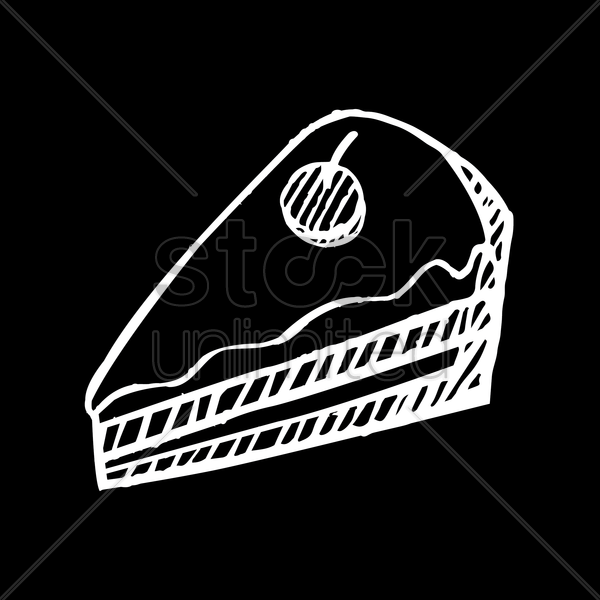 slice of cake vector graphic