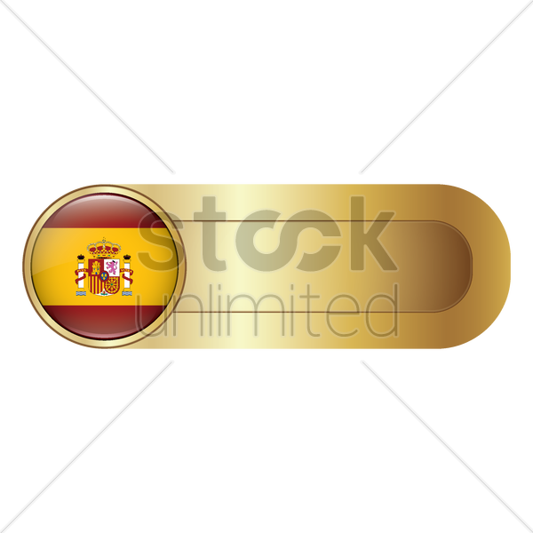 slider bar with spain flag vector graphic