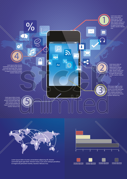 smartphone infographic vector graphic