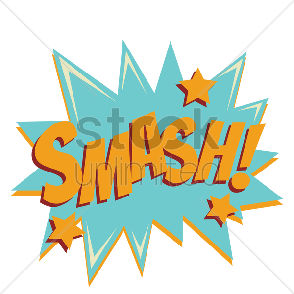 smash comic speech bubble vector graphic