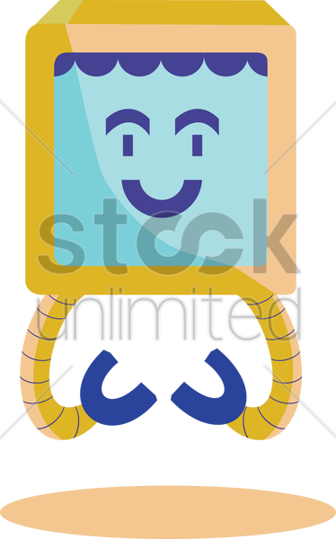 Free smiley robot vector graphic