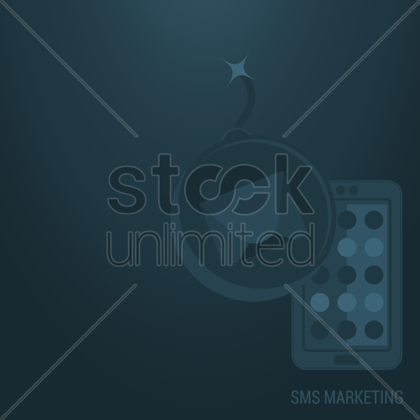sms marketing background vector graphic