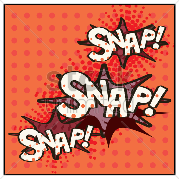 snap comic speech bubble vector graphic