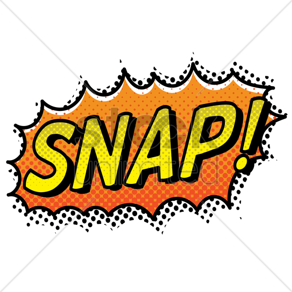 snap text with comic effect vector graphic