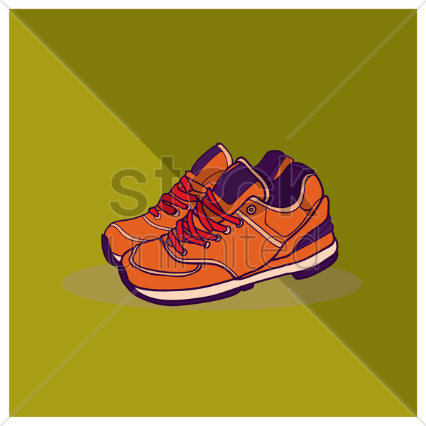 sneakers vector graphic