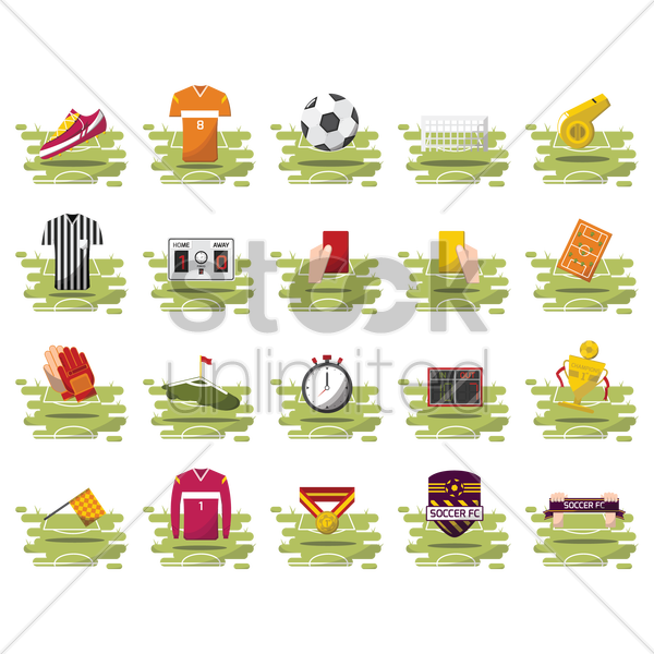 soccer collection vector graphic