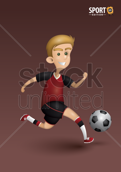 soccer player poster vector graphic