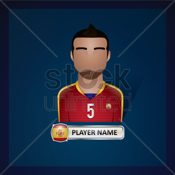 soccer player vector graphic