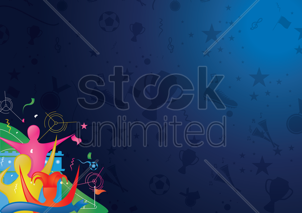 soccer wallpaper vector graphic
