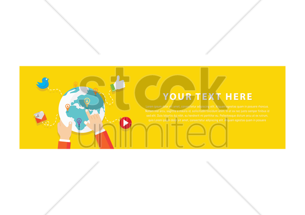 social media banner vector graphic