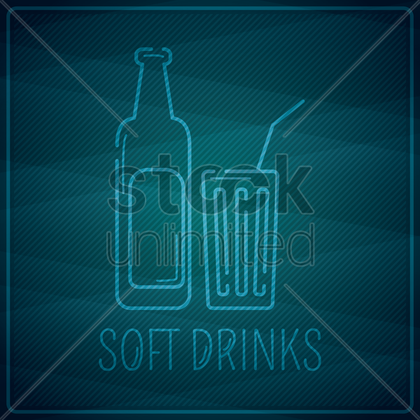 soft drinks vector graphic