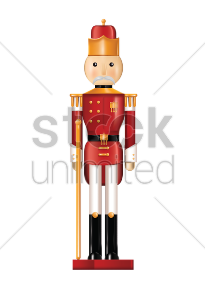 soldier holding staff vector graphic