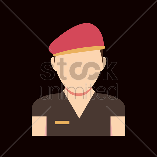 Free soldier vector graphic