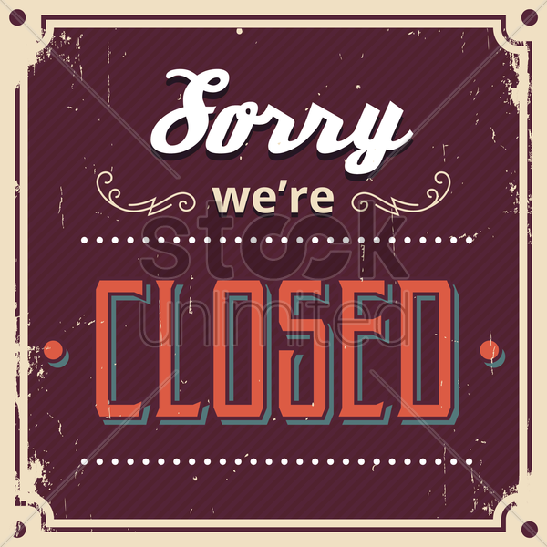 sorry we're closed wallpaper vector graphic