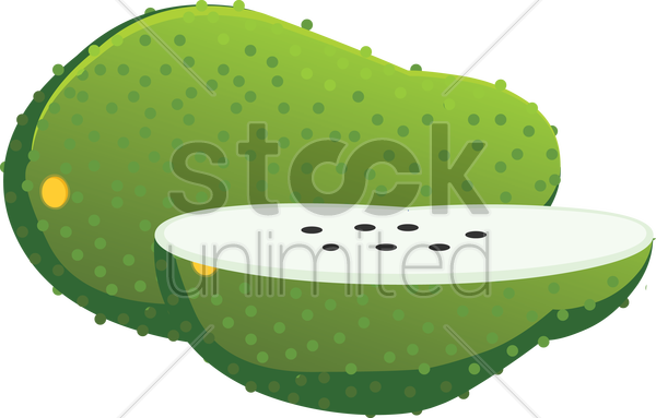 Free soursop over a white background vector graphic