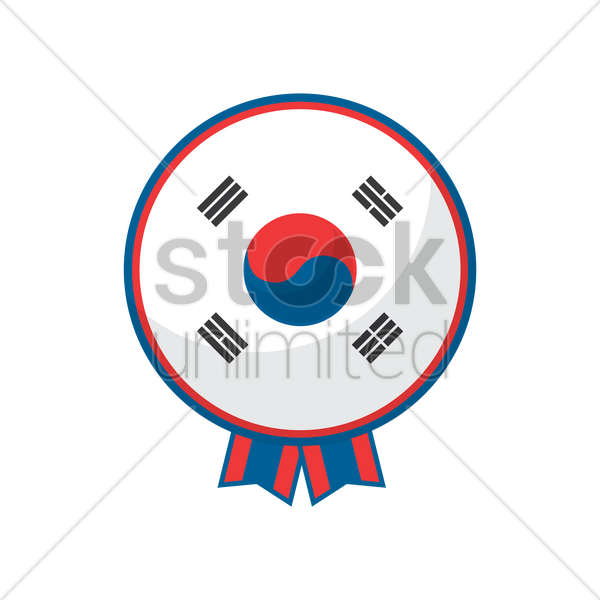 Free south korea flag icon vector graphic