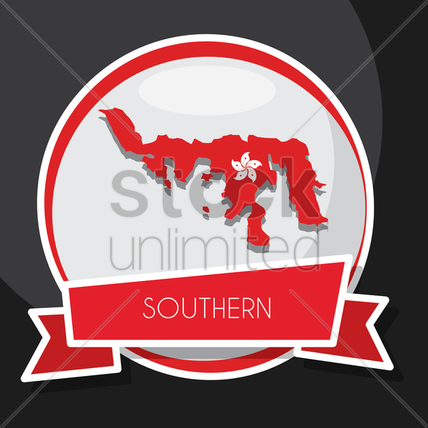 southern map vector graphic