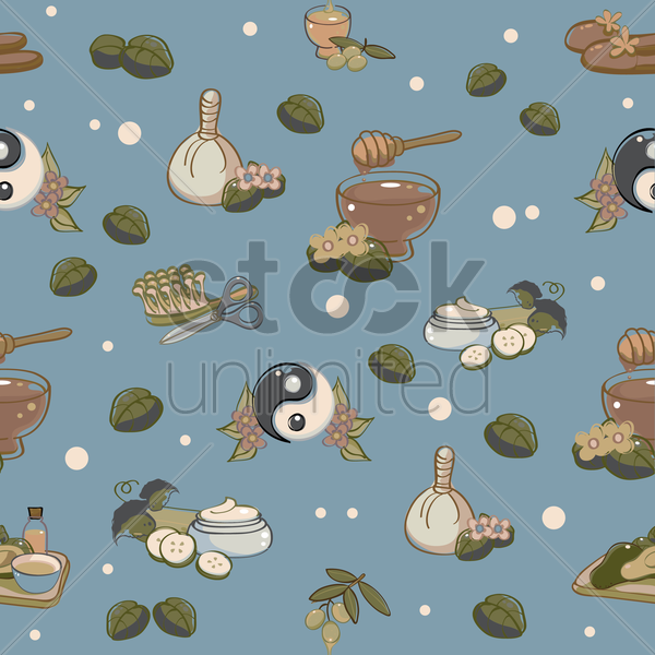 Free spa background vector graphic