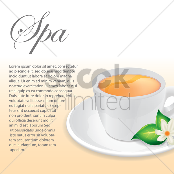 spa background vector graphic