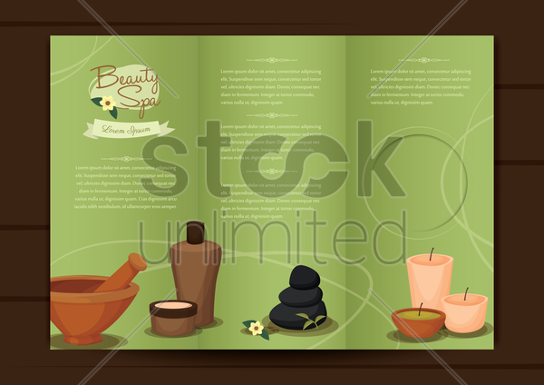 spa brochure design vector graphic